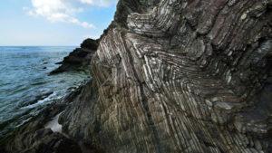 嘉陽層の褶曲